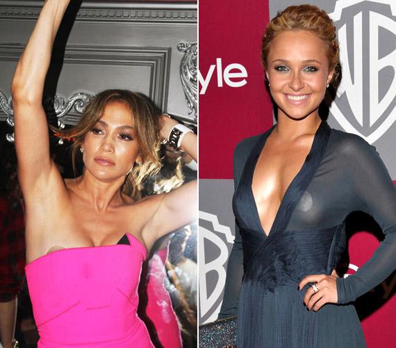 A melltapaszokkal is meggyűlt a hírességek baja, Jennifer Lopez ésHayden Panettiere is megmutatta, mi van a ruhája alatt.