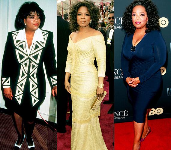 Oprah Winfrey folyton harcol a kilókkal, hol lefogy, hol meghízik.