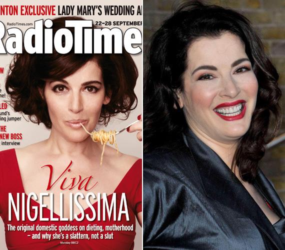 A RadioTime augusztus végi címlapján nemcsak az arcát vékonyították, de mintha irigylésre méltó dekoltázsát is kisebbre méretezték volna. Az évekkel ezelőtt készült jobb oldali felvételen tokája is volt.