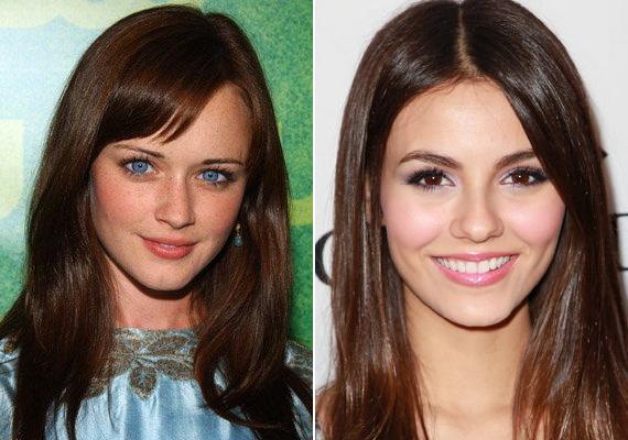 Alexis Bledel, a Szívek szállodája bájos színésznője és Victoria Justice, a Disney Channel ifjú sztárja.