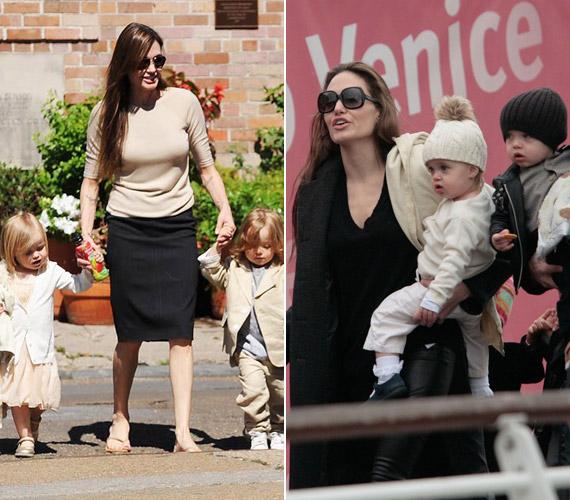 Angelina Jolie és Brad Pitt édes ikrei, Knox és Vivienne 2008. júliusában születtek.