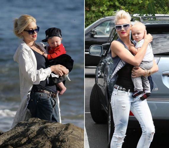 Gwen Stefani cuki szőke kisfiával, Zuma Nesta Rockkal, aki augusztusban már négy éves lesz.