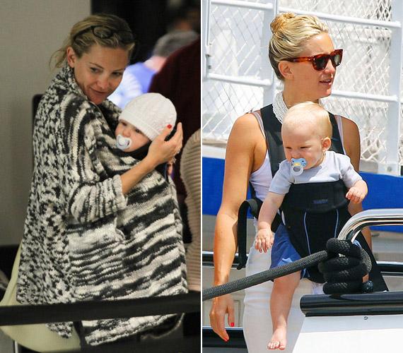 Kate Hudson második kisfiával, a már egy éves Binghammel.