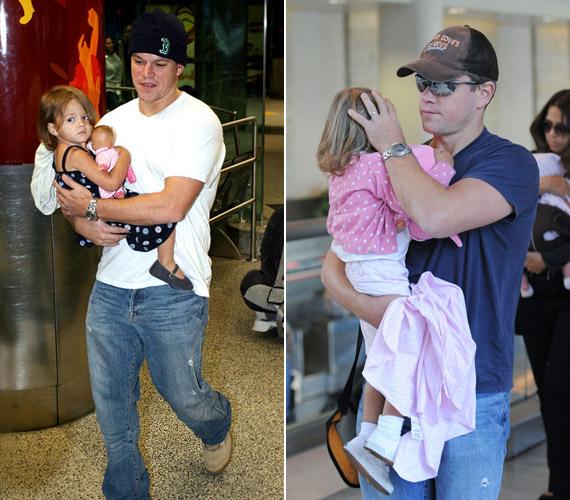 Matt Damon három cuki kislányából kettő nyári csemete, Isabella 2006. júniusában, míg Gia Zavala 2008. augusztusában látta meg a napvilágot.