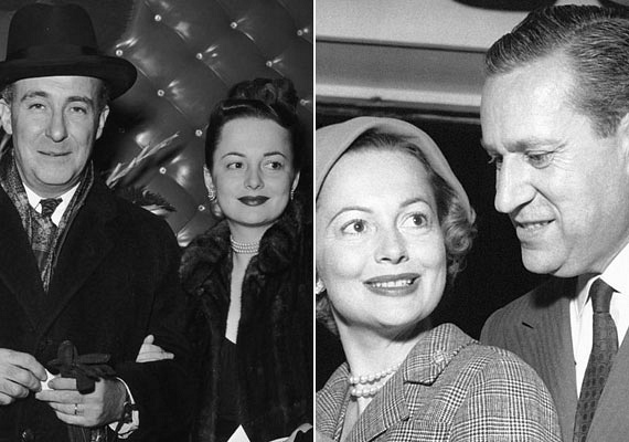 A gyönyörű nő csupán két férfit szeretett egész életében: a bal oldali fotón látható Marcus Goodrich-csel 1946-tól 1953-ig voltak házasok, Pierre Galante - jobbra - 1955-től 1979-ig volt a férje.