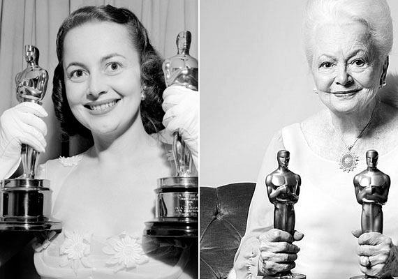 1941-ben a Hold Back the Dawn című drámáért már a legjobb női főszereplőként jelölték az aranyszoborra. A rangos díjat azonban húga, Joan Fontaine vehette át a Gyanakvó szerelem című Hitchcock-film főszerepéért. Fontaine később úgy emlékezett vissza a díjátadóra, hogy amikor elhangzott a neve, azt gondolta, nővére ráugrik, és hajánál fogva megráncigálja. Amikor 1947-ben Havilland is megkapta az Oscart a Kisiklott élet című filmért, húga gratulálni akart neki, de ő tudomást sem vett róla. A színésznő a második szobrocskáját 1950-ben, a The Heiress című filmért vehette át.