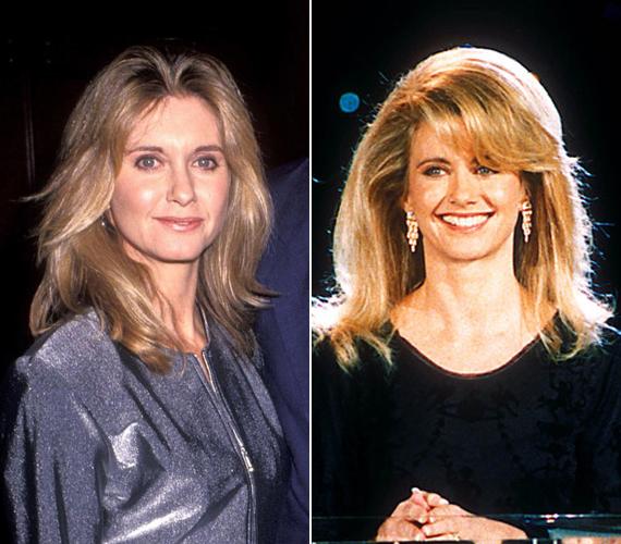 Az itt látható képek 1992-ből származnak. A bal oldali a Grease szereplőinak az évi találkozóján, a jobb oldali pedig a Monte-Carlo Music Awardson készült.