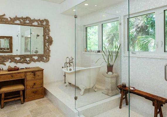 A fürdőszoba is igen különleges.