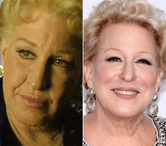 A két Oscarra jelölt Bette Midlert 1991-ben a Kopaszoknak szeretettel című filmdráma miatt öregítették meg. A történetben Dixie Leonard énekesnőt alakította, egy 65-70 év körüli énekesnőt, aki a múltjáról mesél. Midler 44 éves volt, amikor majd' 30 évet öregítettek rajta sminkkel. A színésznő december 1-jén lesz 69 éves, de friss fotója alapján egy tízest simán letagadhatna.