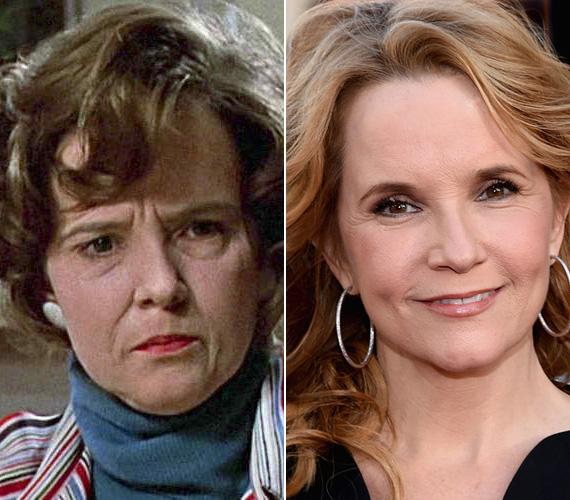 Lea Thomspon szintén a Vissza a jövőbe miatt öregedett meg, amikor 24 évesen el kellett játszania Marty 50 éves édesanyját. A színésznő májusban volt 53 éves, de sokkal jobban néz ki, mint 50 évesnek maszkírozva.