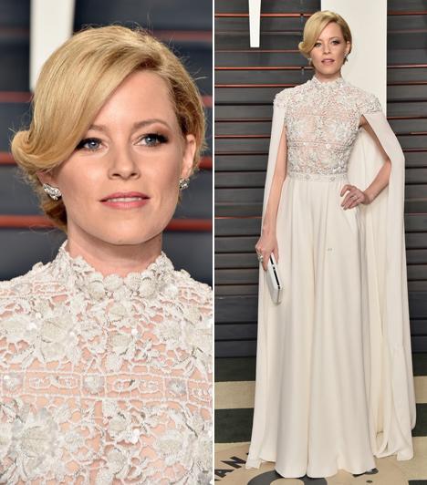 Elizabeth Banks  Az éhezők viadala sztárja angyalként tündökölt az Oscaron. Ártatlanabban nem is festhetett volna, egy hófehér csipkeruhában érkezett a gálára.
