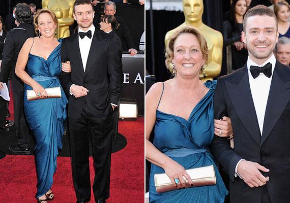 Justin Timberlake noha ma már boldog férj (és apa) Jessica Biel oldalán, korábban megtörtént az, hogy a szexi barátnő helyett az édesanyját, Lynn-t mutatta be a nagyérdeműnek. Ez a fotó a 2011-es díjátadón készült.
