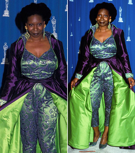 Whoopi Goldberg  Az Apácashow sztárja 1993-ban úgy nézett ki, mintha egy rosszul öltözött dzsinn lépett volna elő Aladdin csodalámpájából.