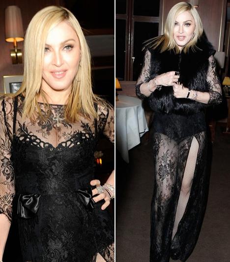 Madonna  Az énekesnő neve mindig felmerül, ha merész sztárokról van. Nem csoda, hiszen a pop királynője 57 évesen is sokat megmutat magából.