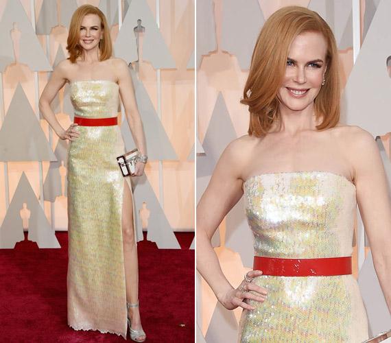 Nicole Kidman több színben játszó Louis Vuitton ruhája nem volt a legjobb választás, sápasztotta a színésznőt.