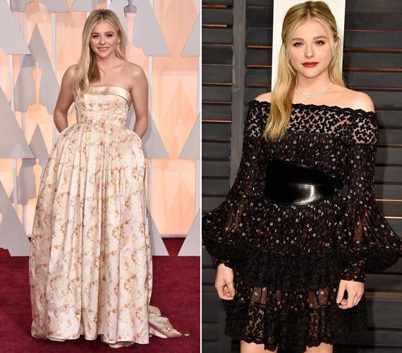 Chloe Moretz is Marion Cotillard sorsára jutott. Az Oscaron egy zsebes Miu Miu ruhát viselt, amit a kritikusok úgy aposztrofáltak, hogy magára kapta az ágyterítőt. Az afterpartira pedig egy bohókás ruhát választott, amely Amanda Seyfried öltözetére emlékeztetett.