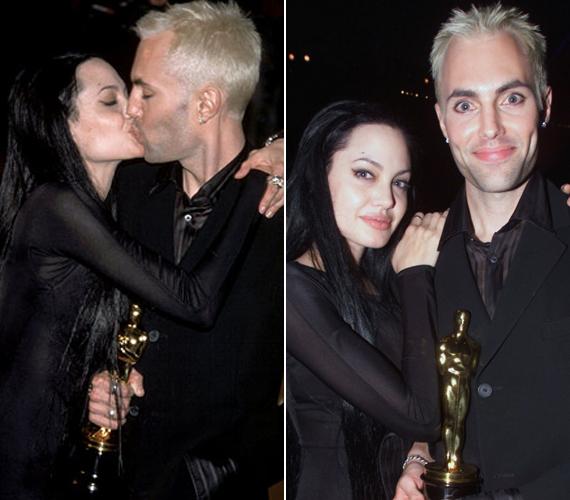 Angelina Jolie az Észvesztő című film miatt kapta meg a legjobb mellékszereplőnek járó díjat. A köszönőbeszédet úgy kezdte, mennyire imádja a bátyját. A színpadról leérkezve pedig még szájon is csókolta.