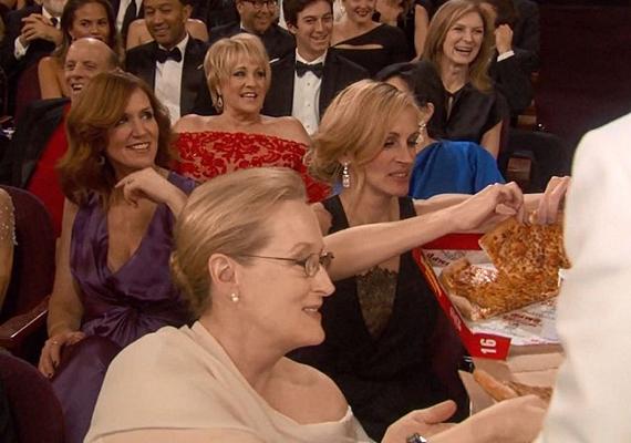 A pizzából Meryl Streep és Julia Roberts is evett, a fiatalabb színésznőcskék féltették az alakjukat még ennyitől is.