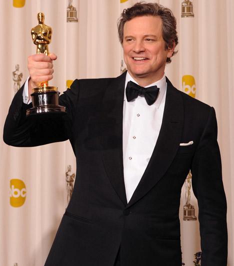 Colin Firth  A brit sármőr több komoly szereppel a háta mögött 2011-ben A király beszédében nyújtott alakításával vívta ki az Akadémia elismerését - sugárzó mosollyal az arcán vette át az aranyszobrocskát.