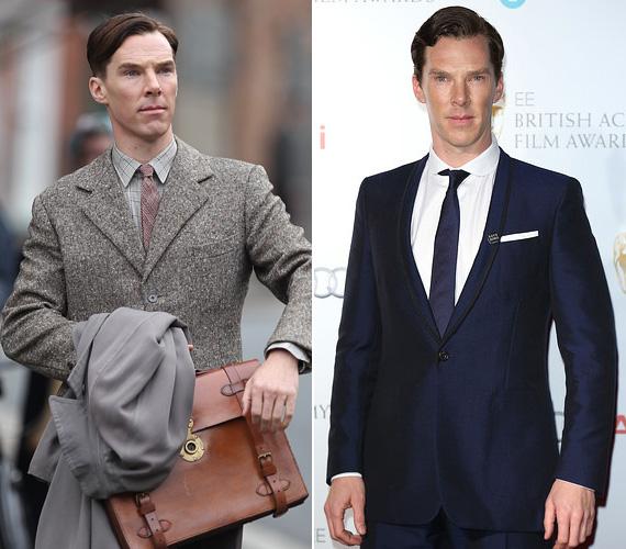 """Benedict Cumberbatch: Alan Turing a Kódjátszmában. A 38 éves angol színész a 2014-es év nagy felfedezettje volt, a nézők az egész világon imádták Sherlock-ként, majd kiderült, hogy ő játssza a zseniális matematikus és kódtörő Alan Turingot a Kódjátszmában. A színész maga is lelkesedett a szerepért, ugyanakkor egy interjújában így vallott: """"Büszke vagyok arra, hogy színészként keresem a kenyerem. Mindig feszegetem a határaimat. De azt is tudom, hogy ez egy szakma, és hogy jobbá és jobbá válhatok minden alkalommal. Így keményen dolgozom, bármi is a feladat""""."""