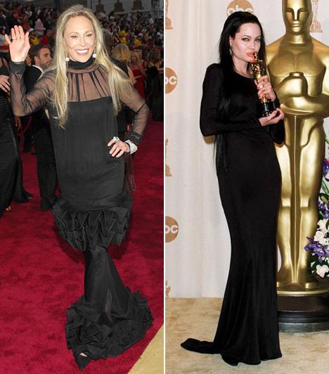 Fekete borzalomA kis fekete klasszikus ruha bármelyik díjátadóra, de Faye Dunaway 2007-ben, és Angelina Jolie 2000-ben leginkább úgy néztek ki, mintha valamilyen horrorfilmből léptek volna elő.