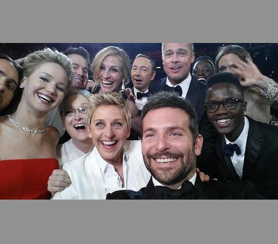 Még a Twitter is összeomlott, annyian nézték a 2014-es Oscar-gáláról posztolt szelfit.