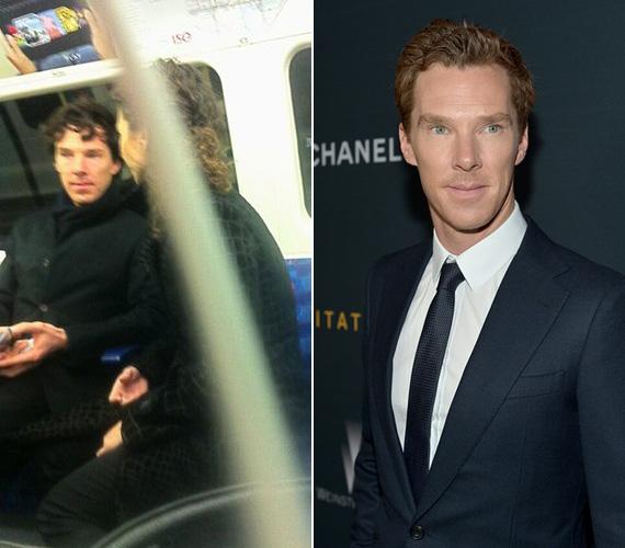 Benedict Cumberbatch éppen beszélgetett valakivel a londoni metrón, amikor egy szemfüles utas lefotózta. Az angol színész karrierje üstökösként száguld felfelé, a Kódjátszma című film miatt lehet esélyes a legjobb férfi főszereplő díjára.