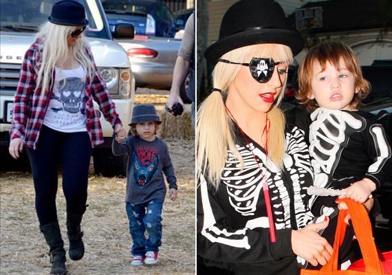 Christina Aguilera és a fia, Max is szereti a punk-rockos külsőt. Mindegy, hogy egy egyszerű séta vagy halloweeni buli az alkalom, az énekesnő szeret összeöltözni a kisfiával.