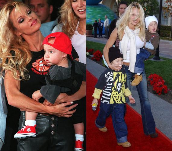 1997 májusában az egyéves Brandonnal és 2001 decemberében az öt és fél éves Brandonnal és a négyéves Dylannel.