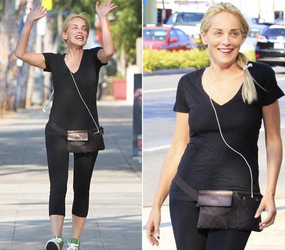 Sharon Stone sem szégyelli az arcát festék nélkül.