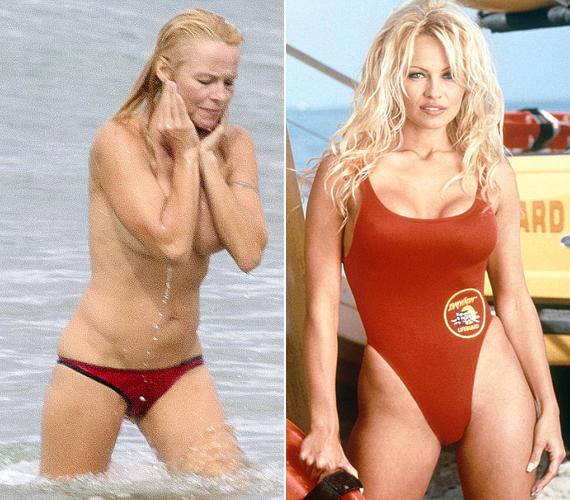 A Baywatch sorozatban vízimentőt alakított, most azonban már nem ragaszkodik az úszódresszhez.