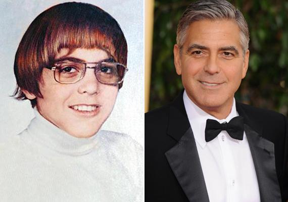 Ki hinné, hogy többször a világ legszexibb férfijának megválasztott George Clooney látható az első képen is? Pedig középiskolás korában meggyűlt a baja a külsejével - még gúnyneveket is aggattak rá.