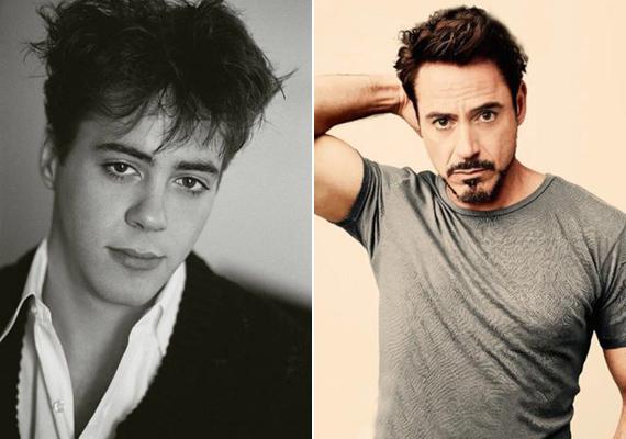 Hála a Vasember-szériának, Robert Downey Jr.-t még 50 évesen is imádják a nők. Fiatal korában ez nem mindig volt így, ő is túl a negyedik x-en lett igazi szexszimbólum.