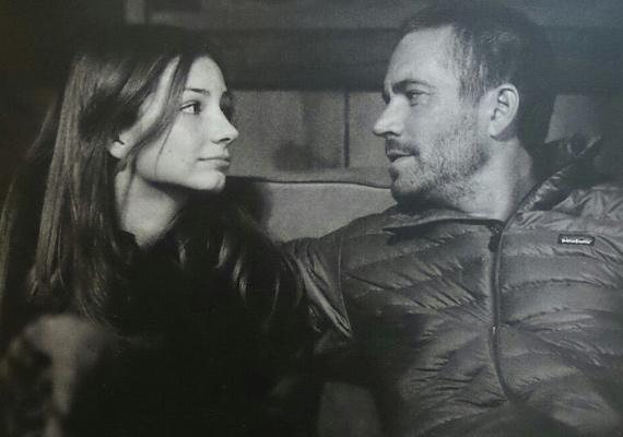 A legutolsó közös fotó a színészről és lányáról. Meadow azóta sem tudja feldolgozni apja hirtelen halálát.