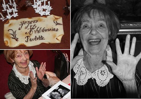 Az életvidám színésznő 96. születésnapját még együtt ünnepelte kollégáival és barátaival a Montmartre egyik családias kávéházában, az Oscar Café-ban.