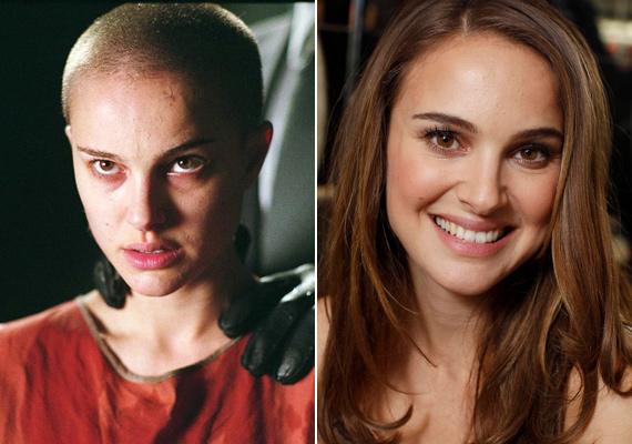 Natalie Portman 2005-ben, a V, mint vérbosszú című filmben vált meg hosszú fürtjeitől. A kamera előtt borotválták le a haját.