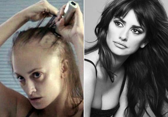 A filmben a színésznő leborotválja gyönyörű hosszú haját, ám ez csak egy filmes trükk: a híresztelésekkel ellentétben valójában mégsem vált meg fürtjeitől.