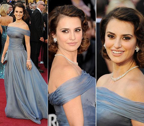 Az idei Oscar-gálán ő viselte az egyik legszebb ruhát: álomszép volt kék Giorgio Armani estélyijében.