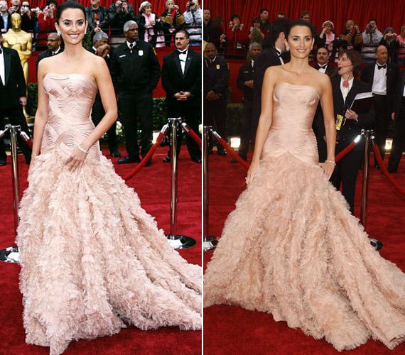 A 2007-es Oscar-gálán mindenkit lenyűgözött púderszín ruhájával.