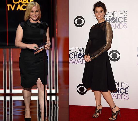 A kis fekete: Patricia Arquette és Bellamy Young egyaránt a kis feketére szavaztak. A 46 éves szőke színésznő egy aszimmetrikus aljú ruhát választott, 44 éves kolléganője pedig egy Philosophy Alberta Ferretti dresszt húzott az eseményre.