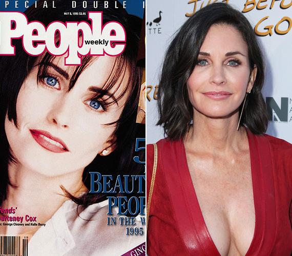 1995-ben, húsz évvel ezelőtt Courteney Coxot választotta meg a magazin a legszebbnek. A színésznő akkor volt 31 éves, de szerintünk ő változott a leginkább előnyére a világszépének megválasztott sztárok közül. Most, 50 évesen sugárzóbb, mint valaha, és a hírek szerint hamarosan férjhez megy szerelméhez.