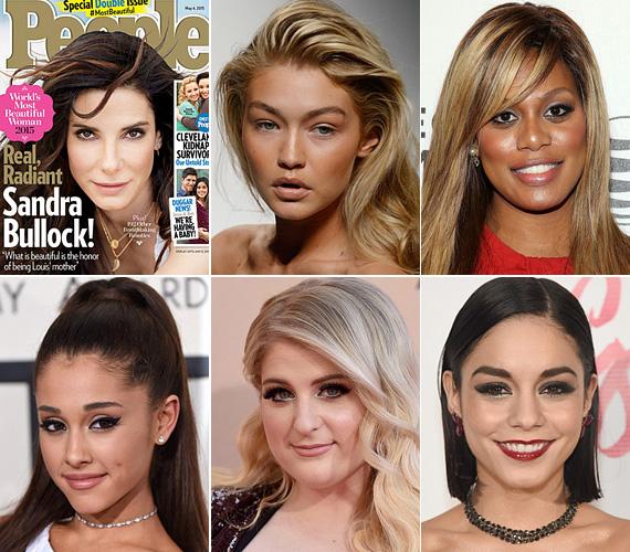 Az idei nyertes Sandra Bullock, aki történelmet írt, mert ő eddig a legidősebb híresség, akit a világ legszebbjének választottak. Olyan, nálánál fiatalabb sztárokat utasított maga mögé, mint Gigi Hadid modell, Laverne Cox transznemű színésznő, valamint Ariana Grande, Meghan Trainor és Vanessa Hudgens énekesnők.