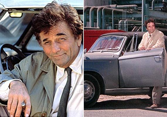 Habár több részben is kérték, hogy cserélje le végre az ócska tragacsát, Columbo ragaszkodott a 1959-es 403-as Peugeot-hoz, aminek egyedi színe az erős napfényhatásnak köszönhető. A kocsit egyébként maga Peter Falk választotta ki, szerinte nagyon illett az általa megformált karakterhez.