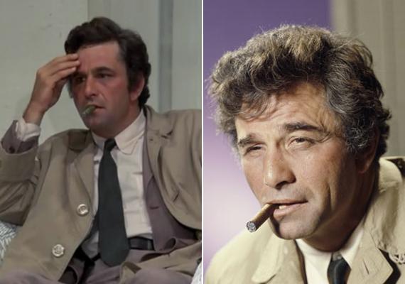 Columbo, valamint az örökké a szájában lógó szivar. A hadnagy legtöbbször füstbe burkolózva oldotta meg a gyilkossági ügyeket.