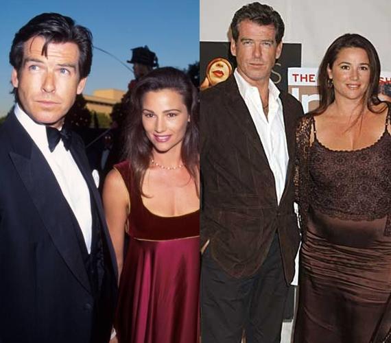 Az első képen a pár a James Bond: Halj meg máskor! premierjén feszít. Azóta Keeley jó pár kilót felszedett, de férje még így is ugyanolyan büszkén öleli át a kicsit vastagabb derekát Az utolsó gyémántrablás című film bemutatóján.