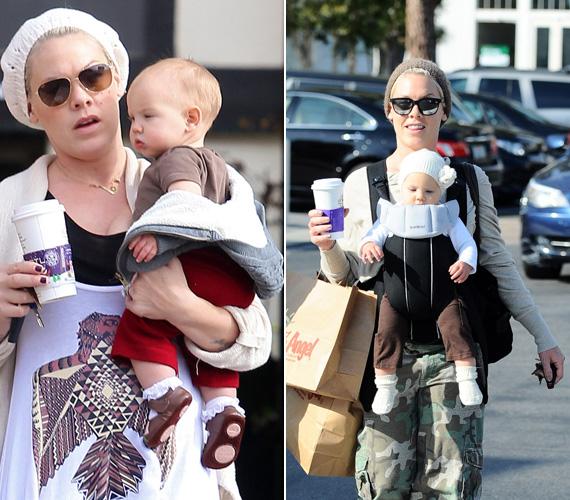 Nem kezdett őrült fogyókúrába, inkább élvezte az anyaság örömeit. Mint a fotó is mutatja, végül sikerült visszanyernie versenysúlyát, sőt, vékonyabb, mint a terhessége előtt volt.