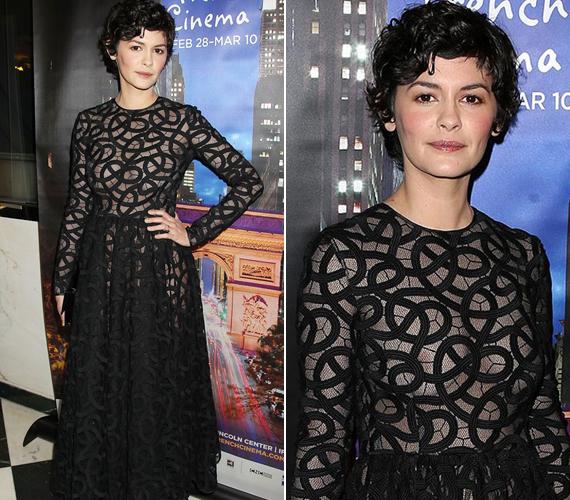 Hol van már Amélie szendesége? Audrey Tautou ruhája nem sokat bízott a fantáziára.