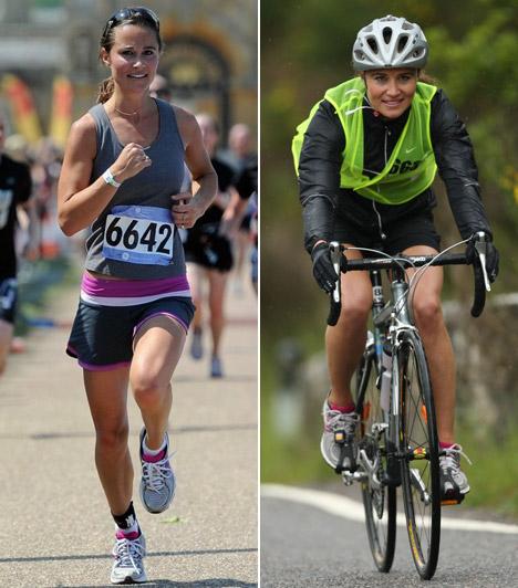 Sportos csaj                         Tökéletes alakját nem csupán a szerencsés géneknek köszönheti, testét a rendszeres futással és biciklizéssel tartja karban.                         Kapcsolódó cikk:                         Pippa Middleton feszes biciklisnadrágban rótta a köröket »