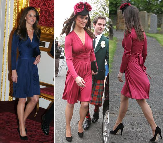 Míg Kate Middleton az Issa Forever kollekciójának éjkék, selyemdzsörzé verziójában volt látható, addig Pippa egy málnás árnyalatú pink szatén mellett döntött.
