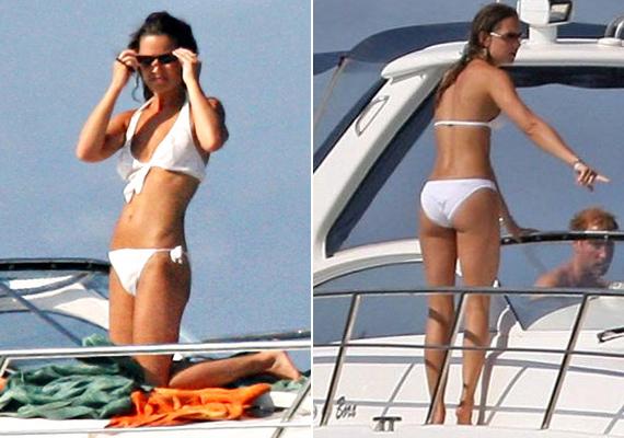 2006-ban, amikor Katalin még nem volt hercegnő, együtt napozott húgával, passzoló bikiniben, Ibizán. A kisebb Middleton lánynak ugyan kevesebb hírnév jutott, de amióta meglátták ruha nélkül, mindenki úgy akar kinézni, mint ő.